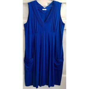 CALVIN KLEIN Pleated Jersey Dress